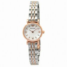 EMPORIO ARMANI Classic White Mother of Pearl Dial Ladies Watch AR1764