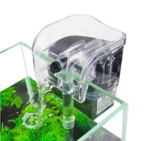 External Aquarium Hang On Back Filter Fish Tank Filtration Pump Flow 120-150L/H