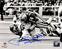 Randy White Signed Dallas Cowboys Sack B&W 8x10 Photo w/HOF'94 - SCHWARTZ