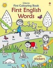 First Colouring Book First English Words (First Colouring Books) (First Colourin