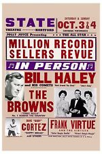 Early Rock & Roll: Bill Haley & His Comets with The Browns Concert Poster 1959