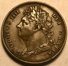 GREAT BRITAIN - William IIII - Copper Farthing - 1825 - About Uncirculated!