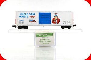 N Scale USA / US Army Military UNCLE SAM WANTS YOU! - 50' Box Car, Bev-Bel 10048