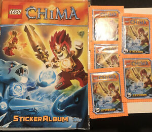 Topps LEGO CHIMA STARTER ALBUM + 5x SEALED STICKER PACKETS (Total 31x Stickers)