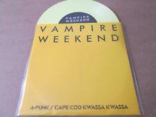 """Vampire Weekend – A-Punk / Cape Cod Kwassa 7"""" YELLOW VINYL HAND MADE SLEEVE NEW"""