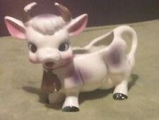Purple/Pink, White Friendly Cow Creamer Planter Vintage