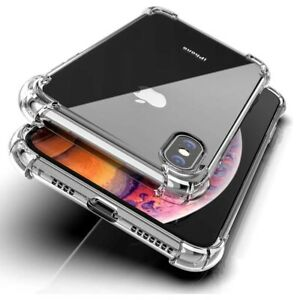 CLEAR Shockproof case For iPhone 12 11 Pro Max XR X XS 8 7 6s SE 2 Edge Silicone