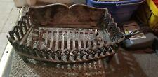 "Antique Ornate Fireplace Log Grate 18x15x9"" Wide Heavy Duty Cast Iron"