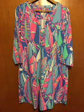 NWOT LILLY PULITZER ALI DRESS BAY BLUE OUT TO SEA XL