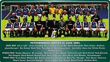 PETERBOROUGH UNITED FOOTBALL TEAM PHOTO 2000-01 SEASON