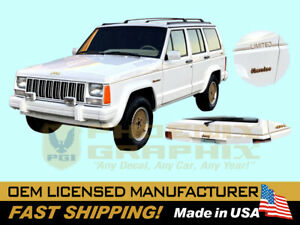 1991 1992 1993 1994 1995 1996 Jeep Cherokee LIMITED XJ Truck Decal StripeGraphic