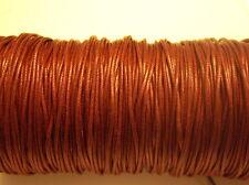 lacci COTONE cerato bordeaux 1mm 1 metro ricambio cordini bracciali collane