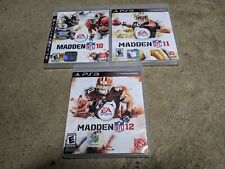 Sony PlayStation 3 PS3 Game Lot (3 Games) MADDEN 10, 11, 12 Nice