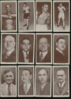 1938 Wa/Ac Churchman Boxing Personalities  EX avg lot of 12 diff cards 52612