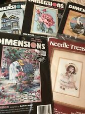 Lot Of 5 Needlework Kits Dimensions Needle Treasures Emily Cross Stitch