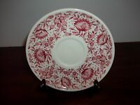 VINTAGE - MAYFLOWER RED SAUCER PLATE - BY SYRACUSE - CAREFREE LINE