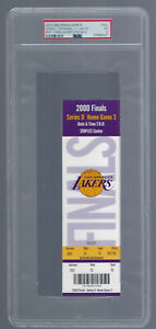 1999-2000 NBA FINALS - LA LAKERS FULL TICKET CLINCHER GAME #6 KOBE BRYANT - PSA