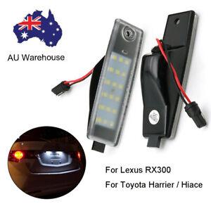 2 x Rear Led License Number Plate Light Lamp For Toyota Harrier Hiace Highlander