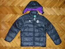 Real Madrid Soccer Down Jacket Adidas Warm Winter Top Spain Football Coat NEW