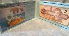 New listing Canadian Commemorative Two Dollar Coin & Banknote Set