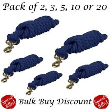 Ontariouk 2M Cotton Lead rope HORSE,PONY,DOG, Leadrope NAVY (Save up to 25%)