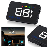"3.5"" Car HUD Head Up Display Overspeed Warning GPS Speedometer Cigarette OBD 2"