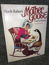Frank Baber's MOTHER GOOSE over 300 NURSERY RHYMES 1976 Vintage CHILDRENS BOOK