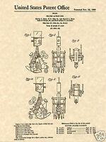 IDEAL Mr Machine Robot PATENT Art Print READY TO FRAME!!!!! Original wind up toy
