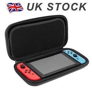 Nintendo Switch Hard Shell Carrying Display Case EVA Black Plain Bag Cover