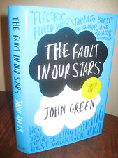 SIGNED 1st Edition THE FAULT IN OUR STARS John Green FILM Movie FIRST PRINTING