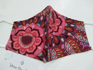 Vera Bradley Resort Medallion Cotton Face Mask With Filter Pocket New Multicolor