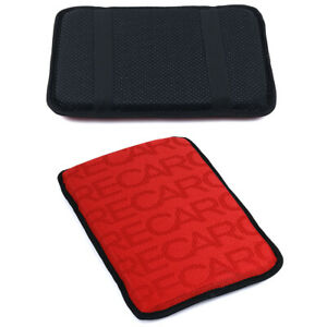 Recaro Red Racing Fabric Car Armrest Pad Cover Center Console Box Cushion Mat