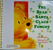 The Bear Santa Claus Forgot by D. Kimpton ~ in Braille for the Blind Children