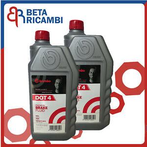 Olio freni DOT 4 Brembo Liquido Fluido Freni DOT4 Freno Auto Moto 2 Litri LT