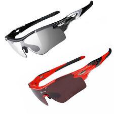 ROCKBROS Cycling Glasses Polarized Photochromic Lens Sports Goggles Eyewear New