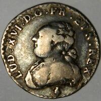 1783-A PARIS FRANCE SILVER 1/20 ECU 6 SOLS ~ Km-587 ~LOUIS XVI !