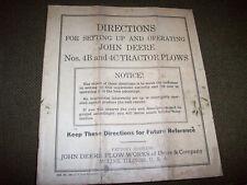 1935 John Deere No. 4B & 4C Tractor Plow Operator's Manual & Parts List