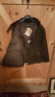 Barbour Conroy Womens hooded heavy waxed cotton jacket