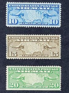 US STAMP AIRMAIL #s  C7-9, MH