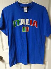 Vintage Team Italy Italia Soccer Futbol Shirt Raised Sewn Lettering Mens Med
