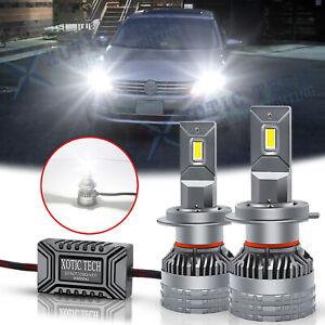 For Volkswagen Golf Passa H7 LED Headlight Kit High Beam Error Free Bulb Bright