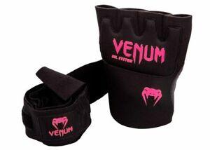 Venum Kontact Gel Glove Wraps Protective Shock Absorbing Black MMA Training NEW