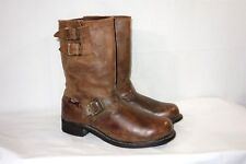 "Harley Davidson Men's Brown Leather 12"" Engineer Motorcycle Boots Size 11.5"