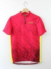 Vtg Retro Giessegi Ninja Bike Bicycle Cycling Shirt Jersey Top Pink Size 4 M