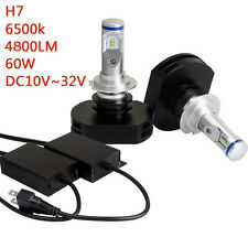 H7 60W Extremely Bright for Philips 8000 Lumiled LED Headlight Kit Bulbs 6500K