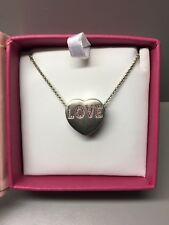 Sweetheart Jewelry Pink Swarovski Love Heart Pendant Necklace Valentine NEW