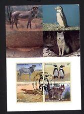 UNO Wien 143/6 Maximumkarte Gefährdete Arten , Humboldtpinguin , Wolf