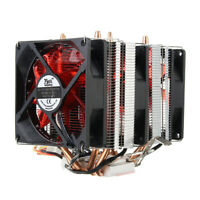 4 Heat Pipes Red Led 3 CPU Cooling Cooler Fan Heat Sink for AMD AM2/2+ AM3