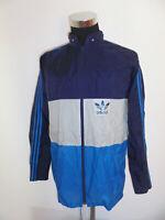 vintage 80`s Adidas Nylon Regenjacke glanz oldschool 80er Jahre Jacke D50 M