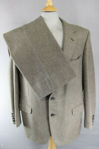 VINTAGE 1960's INTERNATIONAL 5 SAVILE ROW PURE WOOL SUIT CHEST 44 IN/WAIST 42 IN